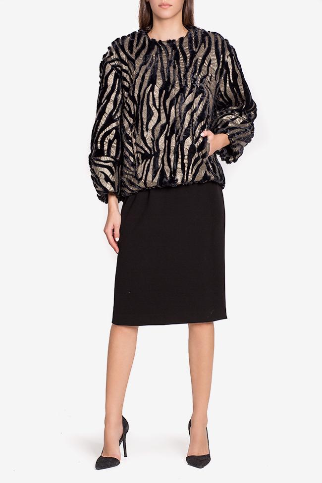 Jacheta din blana artificiala Lane Mirela Pellegrini imagine 1