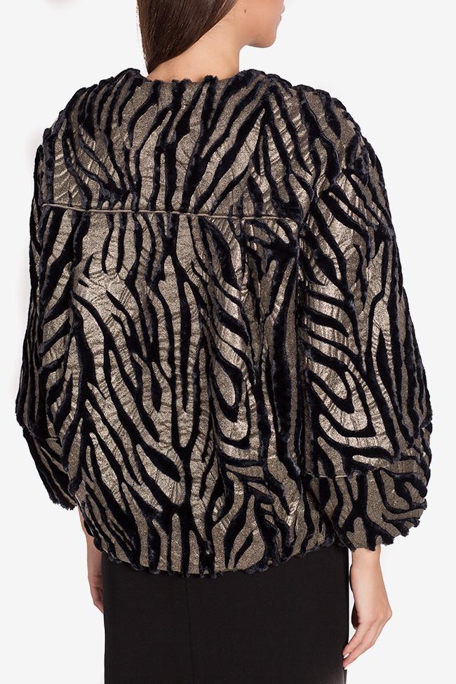 Jacheta din blana artificiala Lane Mirela Pellegrini imagine 2