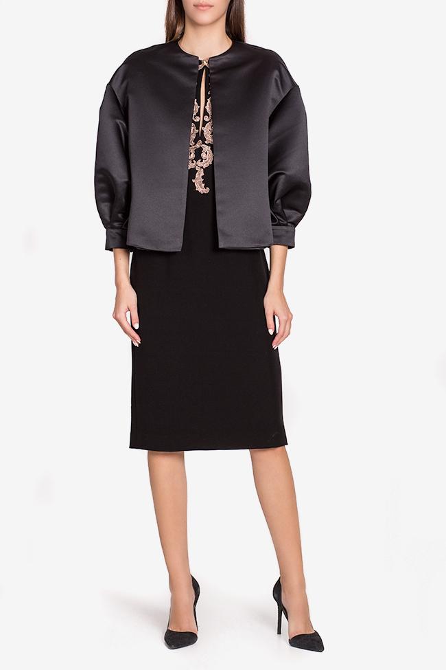 Jacheta din tafta cu nasturi bijuterie Janette Mirela Pellegrini imagine 1
