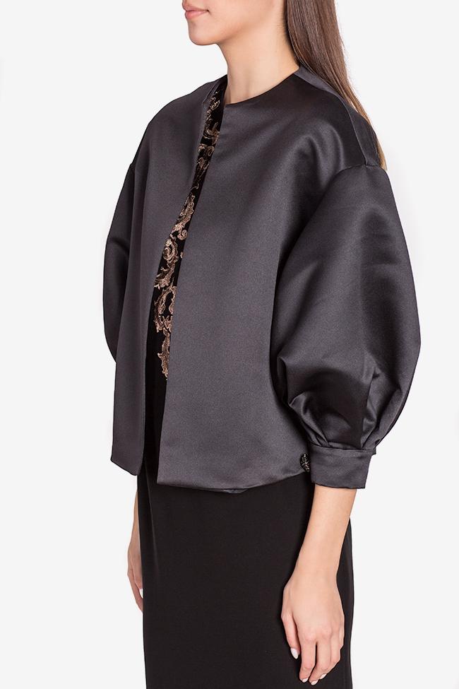Jacheta din tafta cu nasturi bijuterie Janette Mirela Pellegrini imagine 0