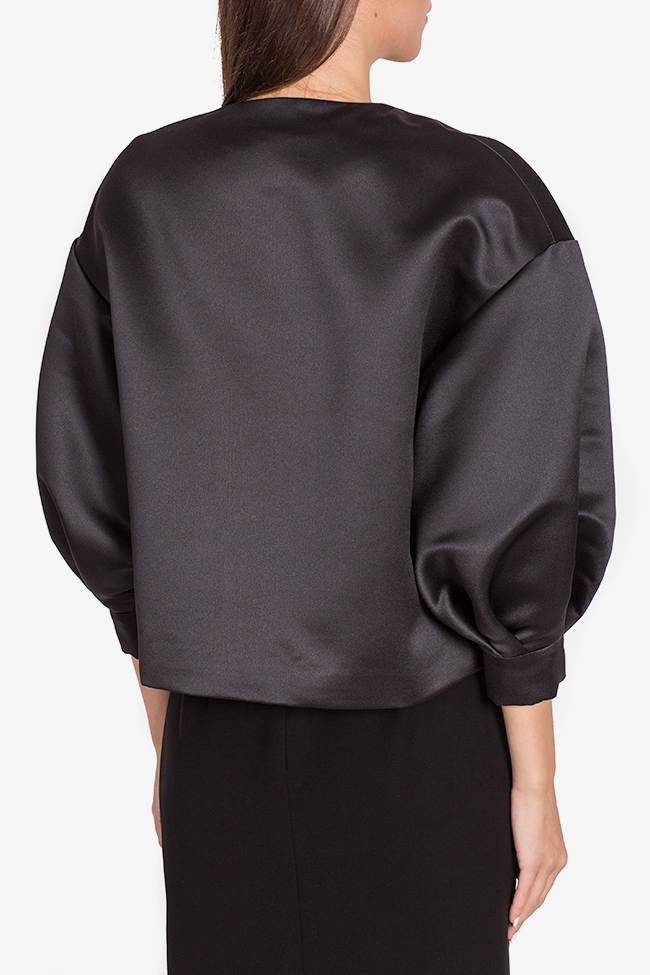 Jacheta din tafta cu nasturi bijuterie Janette Mirela Pellegrini imagine 2