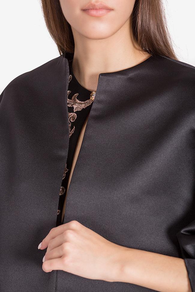 Jacheta din tafta cu nasturi bijuterie Janette Mirela Pellegrini imagine 3