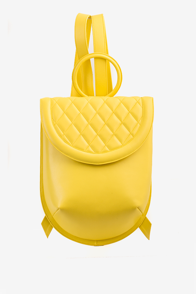 Quilted leather backpack Laura Olaru image 0