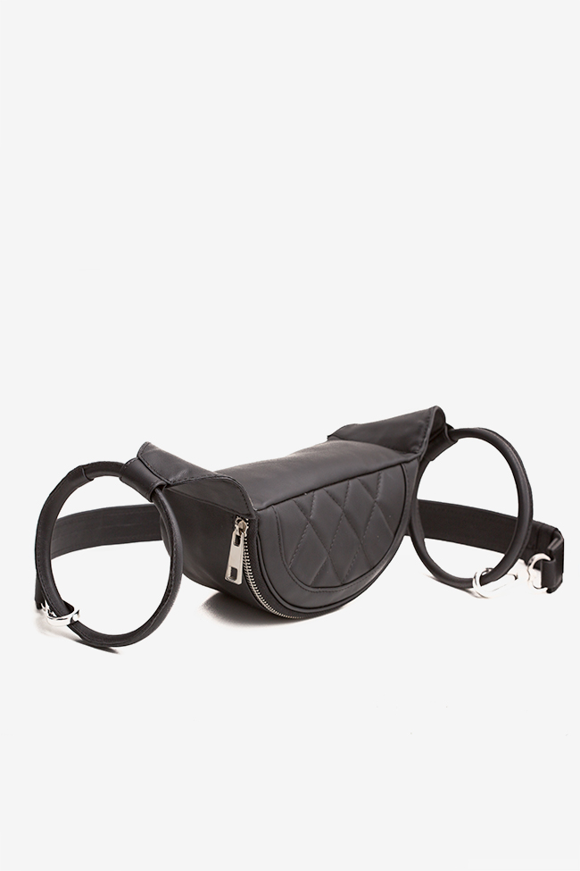 Quilted leather belt bag Laura Olaru image 0