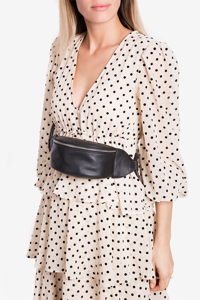 Quilted leather belt bag Laura Olaru image 3