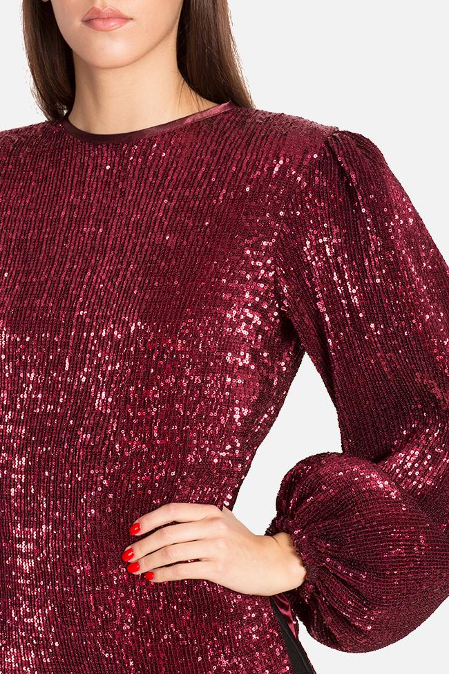 Shiny embellished tulle top Arllabel Golden Brand image 3