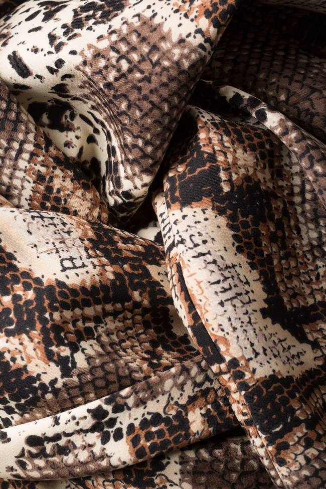 Rochie din crep din amestec de matase Snake  Arllabel Golden Brand imagine 4