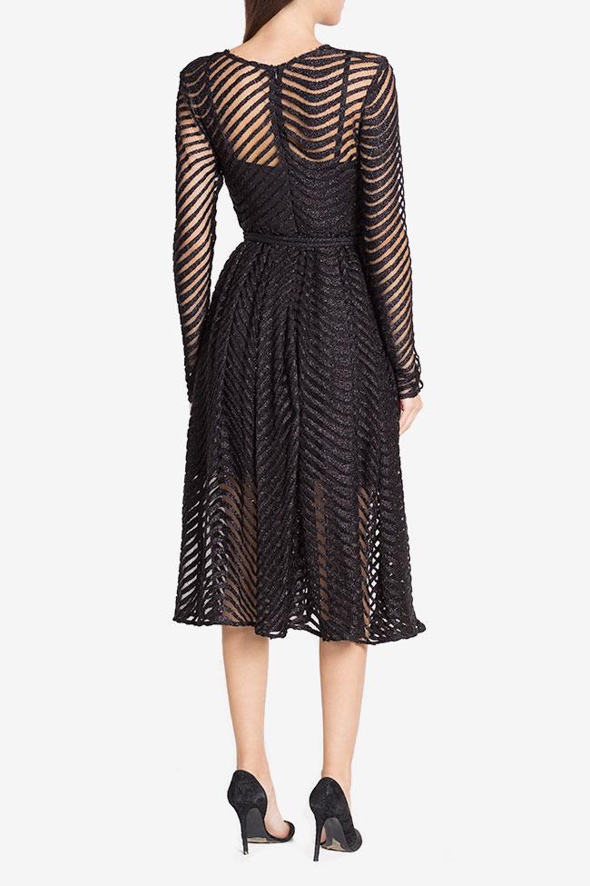 Grace belted metallic lace midi dress Arllabel Golden Brand image 2