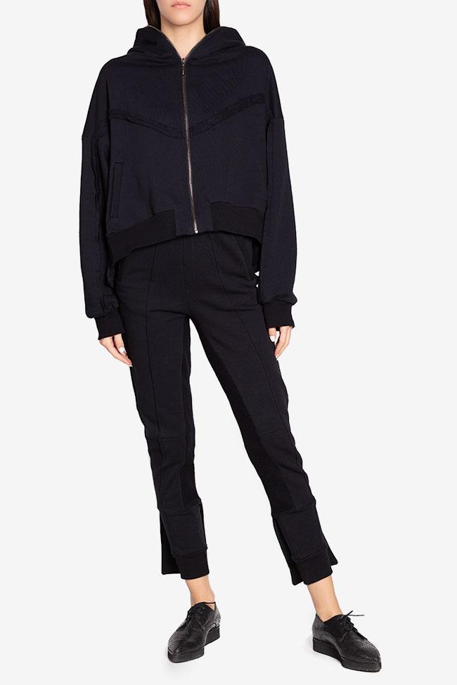 Zip-detailed coton-blend hoodie NARRO image 1
