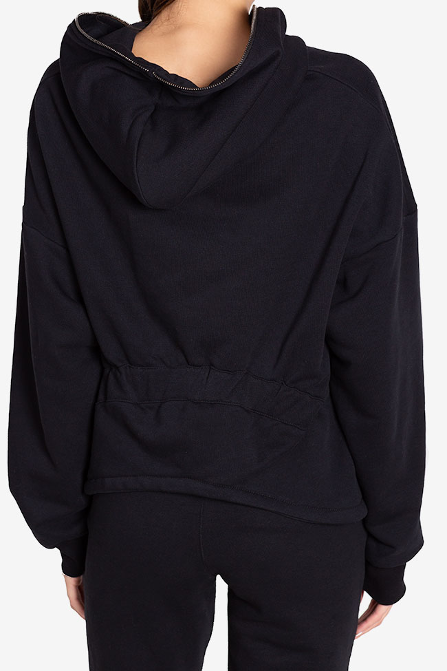 Zip-detailed coton-blend hoodie NARRO image 2