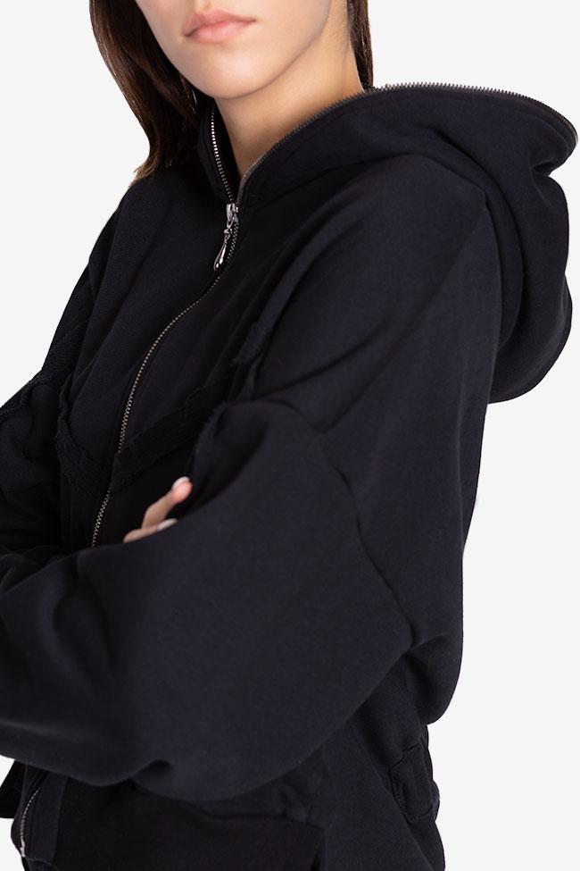 Zip-detailed coton-blend hoodie NARRO image 3