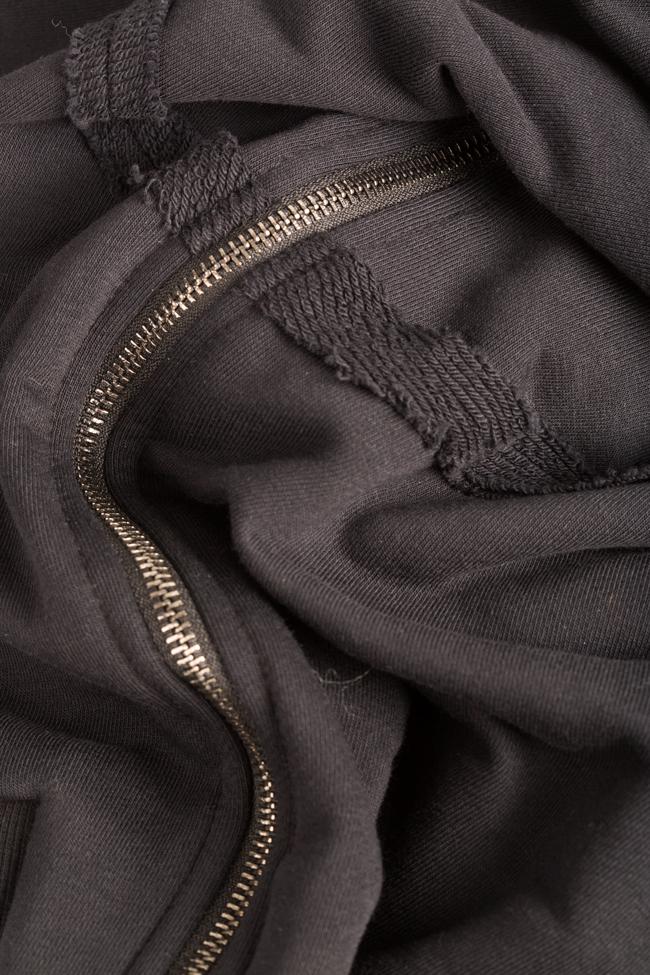 Zip-detailed coton-blend hoodie NARRO image 4