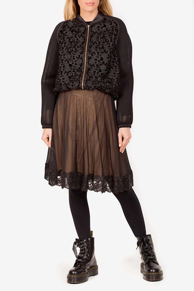 Cotton corded lace tulle bomber jacket Ramona Belciu image 1