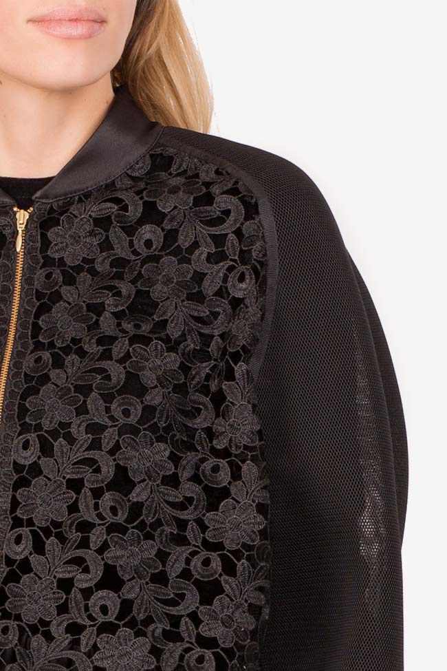 Cotton corded lace tulle bomber jacket Ramona Belciu image 3