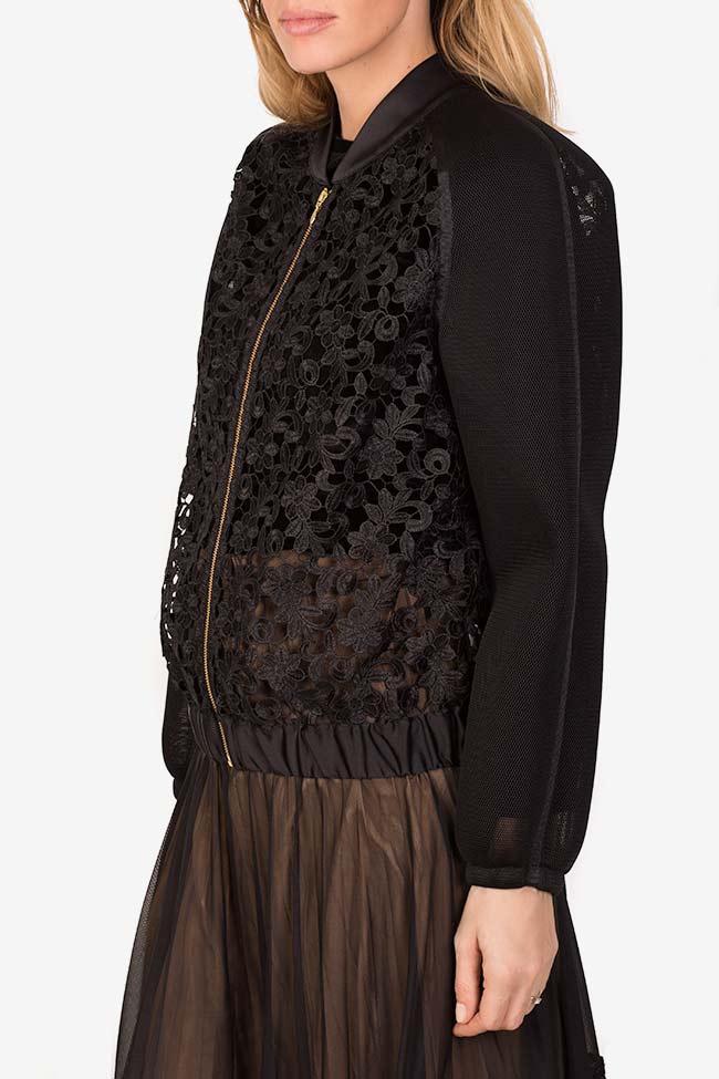 Cotton corded lace tulle bomber jacket Ramona Belciu image 0