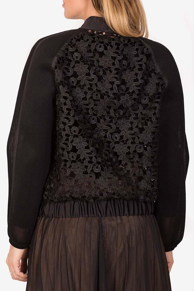 Cotton corded lace tulle bomber jacket Ramona Belciu image 2