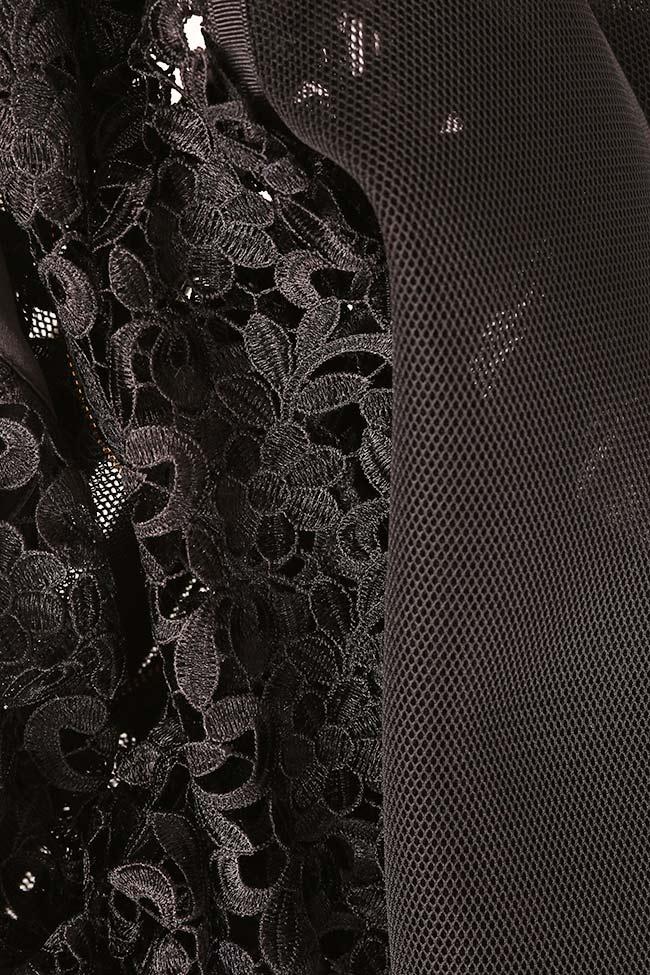 Cotton corded lace tulle bomber jacket Ramona Belciu image 4