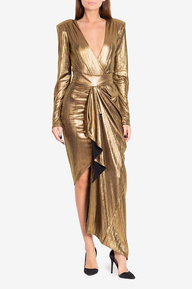 Rochie din lame cu fronseuri Golden Arllabel Golden Brand imagine 1