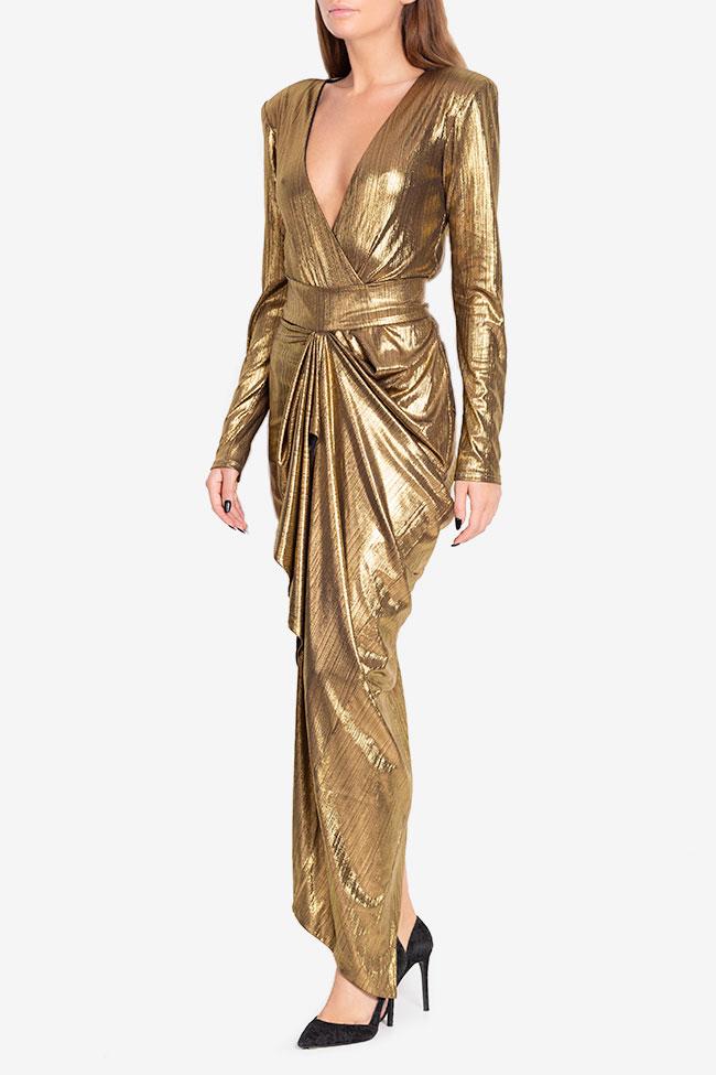 Rochie din lame cu fronseuri Golden Arllabel Golden Brand imagine 0