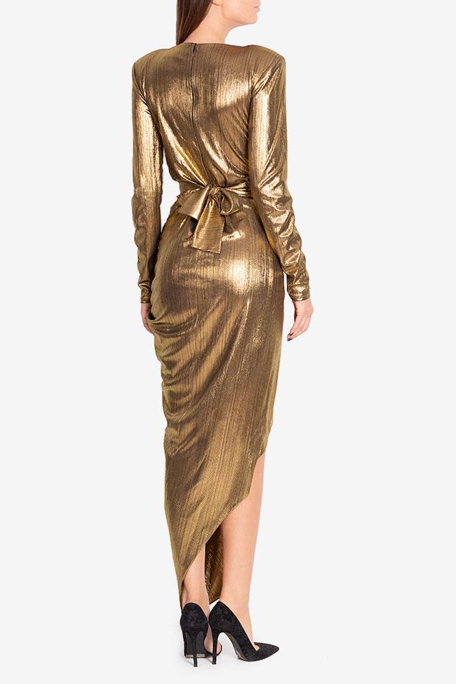 Rochie din lame cu fronseuri Golden Arllabel Golden Brand imagine 2