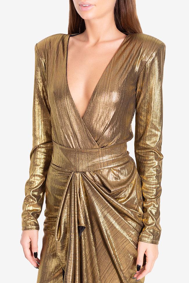 Rochie din lame cu fronseuri Golden Arllabel Golden Brand imagine 3