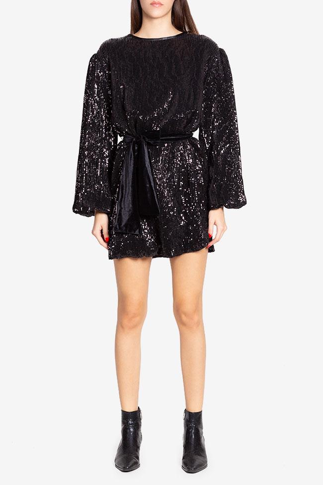 Rush belted sequinned mini dress Arllabel Golden Brand image 1