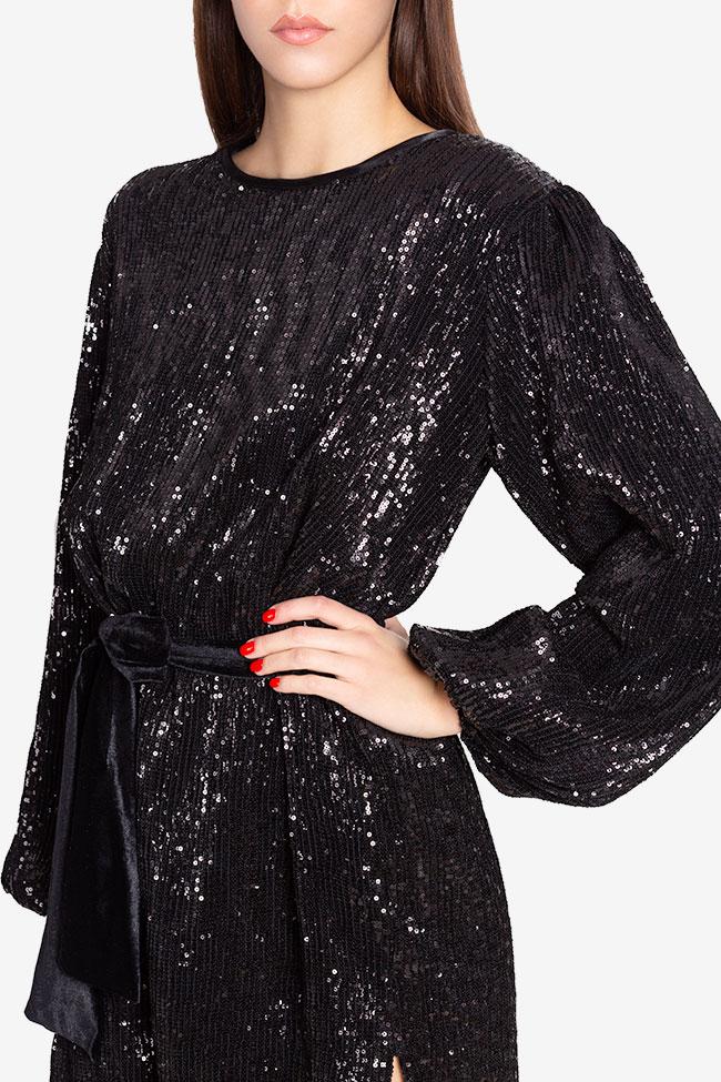 Rush belted sequinned mini dress Arllabel Golden Brand image 3
