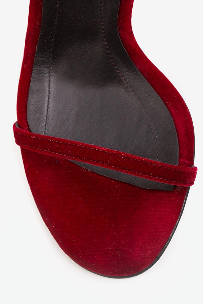 Sandale din catifea Mars Traces of Heels imagine 3
