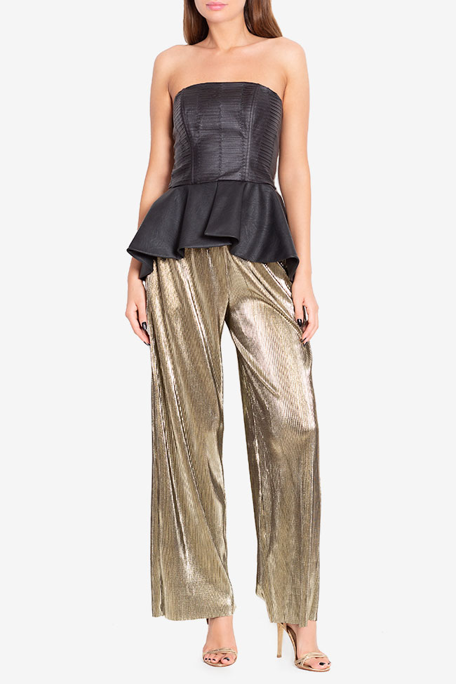Lamé wide-leg pants Hard Coeur image 1