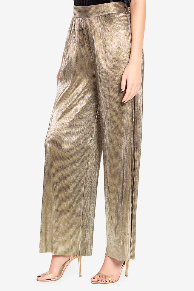 Lamé wide-leg pants Hard Coeur image 0