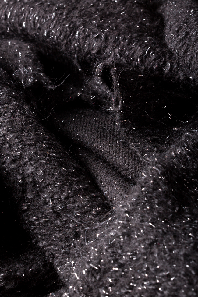 Asymmetric metallic wool-blend cardigan Hard Coeur image 5