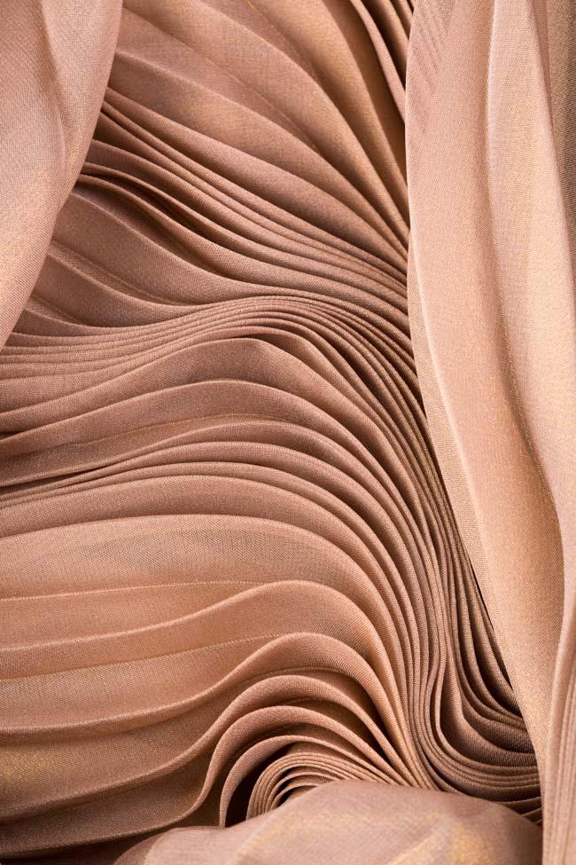 Robe plissée en mélange de soie mousseline métallisée Maia Ratiu image 4