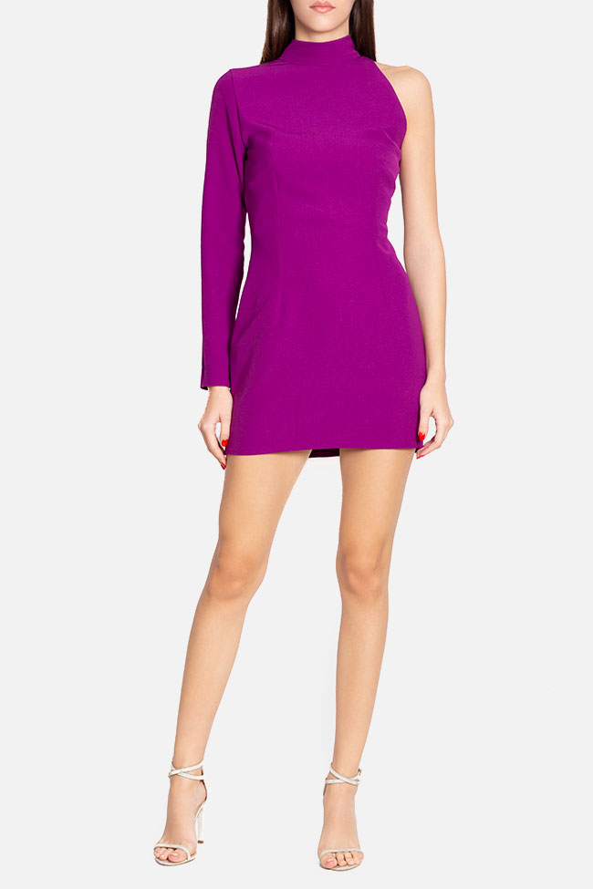 One-sleeve crepe mini dress Mirela Diaconu  image 1