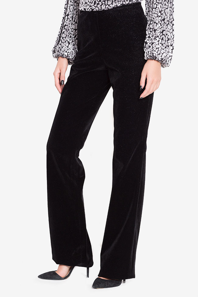 Cotton-blend velvet trousers LOOMY image 0