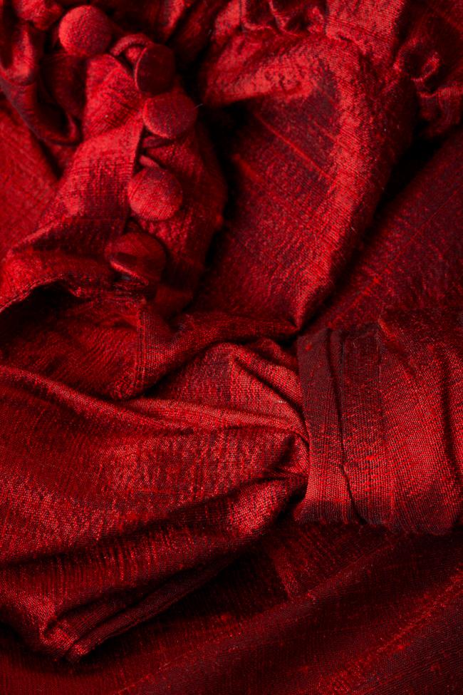Rochie din shantung de matase cu funda LOOMY imagine 4