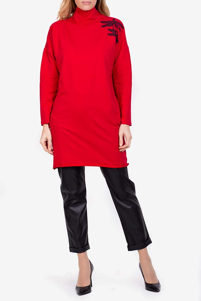 Robe mini en coton avec imprimé Libellule Lena Criveanu image 1