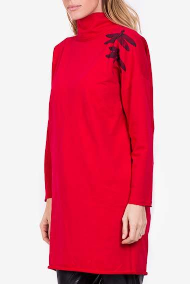 Robe mini en coton avec imprimé Libellule Lena Criveanu image 0