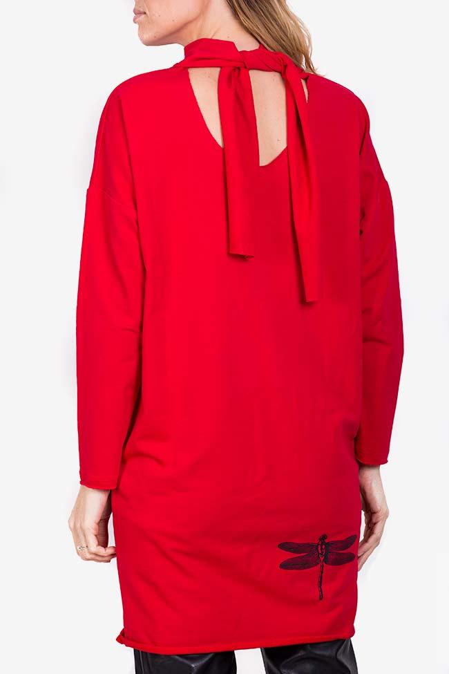 Robe mini en coton avec imprimé Libellule Lena Criveanu image 2