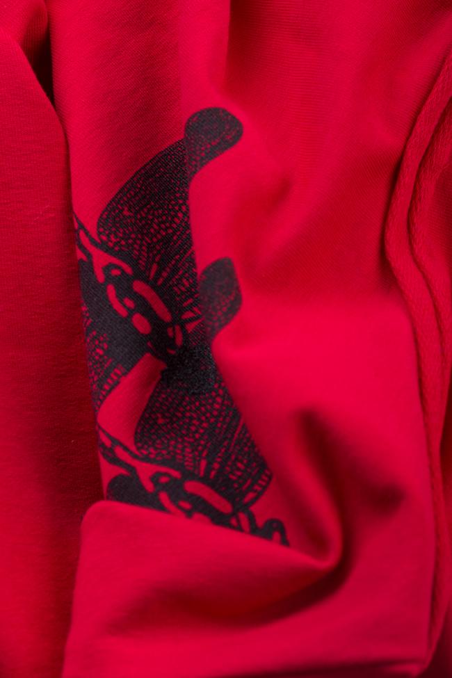 Robe mini en coton avec imprimé Libellule Lena Criveanu image 4