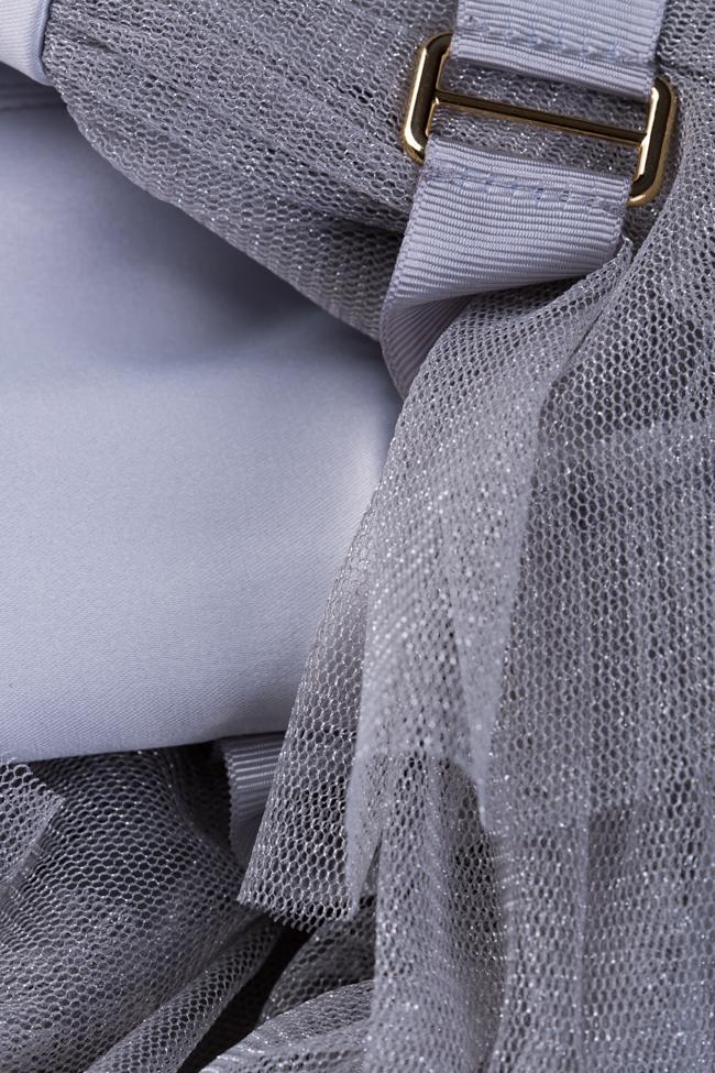Rochie din tul din amestec de matase cu volane  Ramona Belciu imagine 4