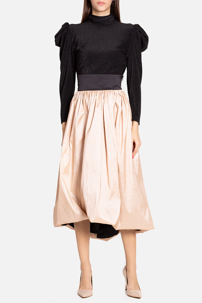 Taffeta midi skirt and glittered tulle top  Ramona Belciu image 0