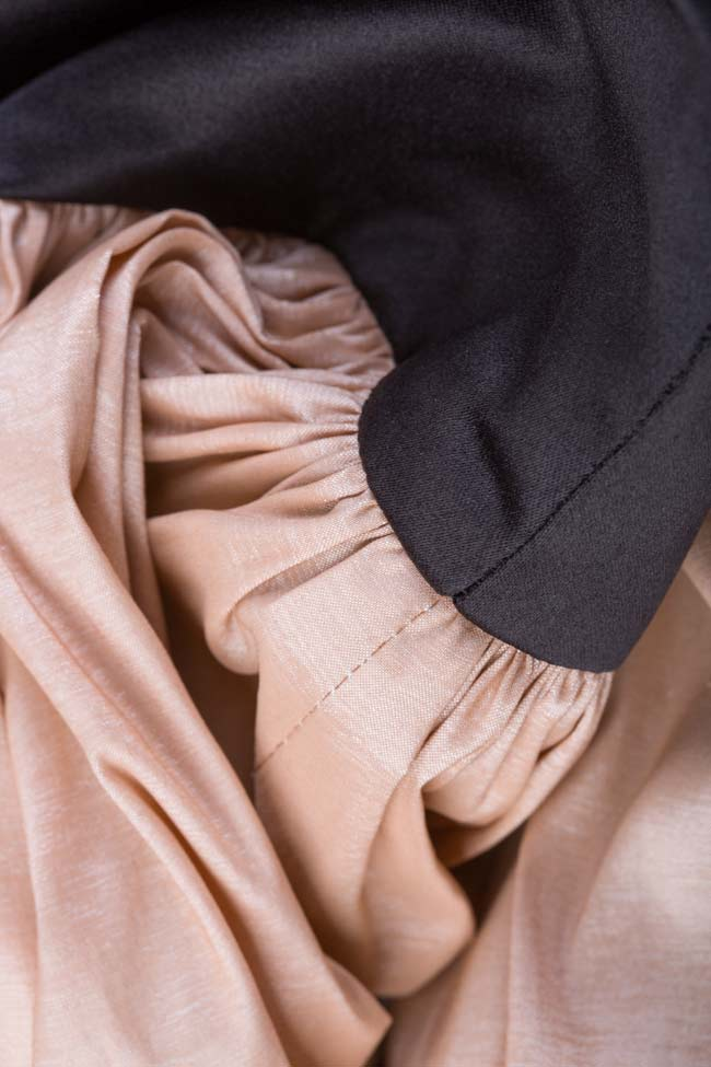 Compleu cu fusta din tafta si helanca din tul cu sclipici Ramona Belciu imagine 5