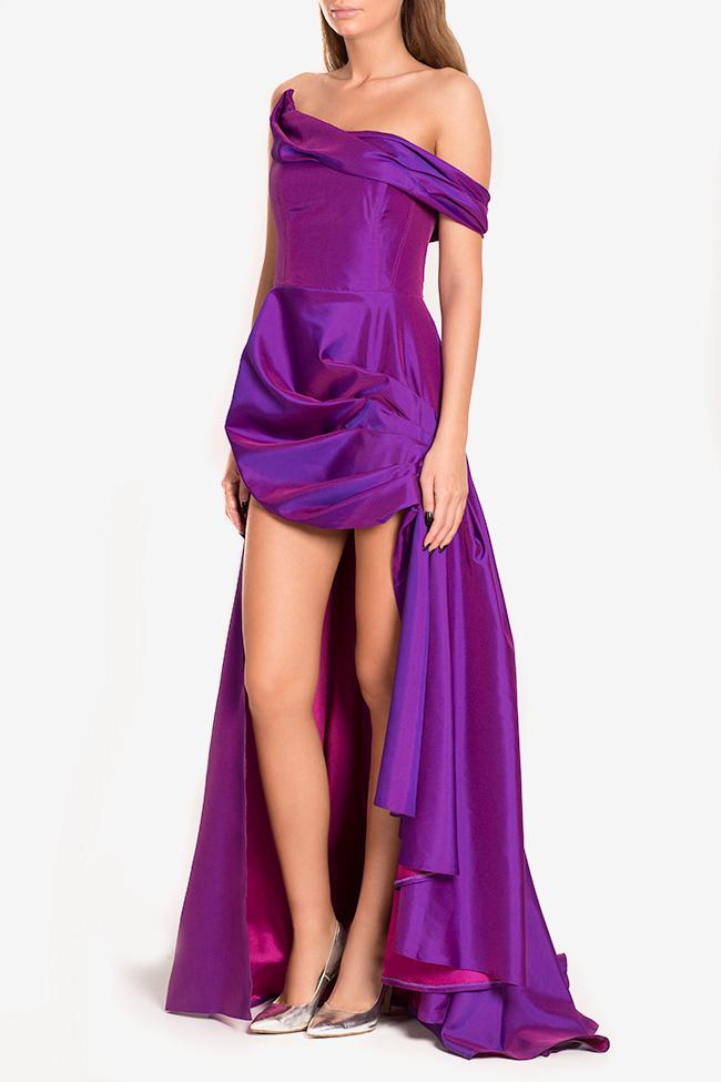 Robe asymétrique en taffetas Sissi Mirela Diaconu  image 0