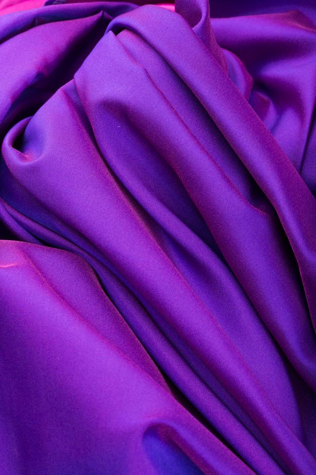 Robe asymétrique en taffetas Sissi Mirela Diaconu  image 4