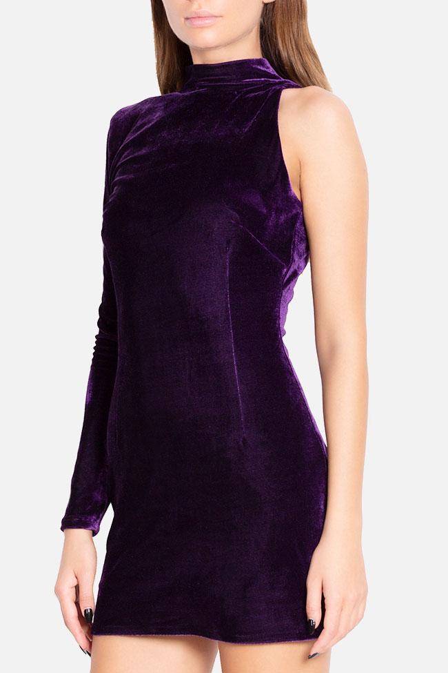 Robe asymétrique en velours Mirela Diaconu  image 0