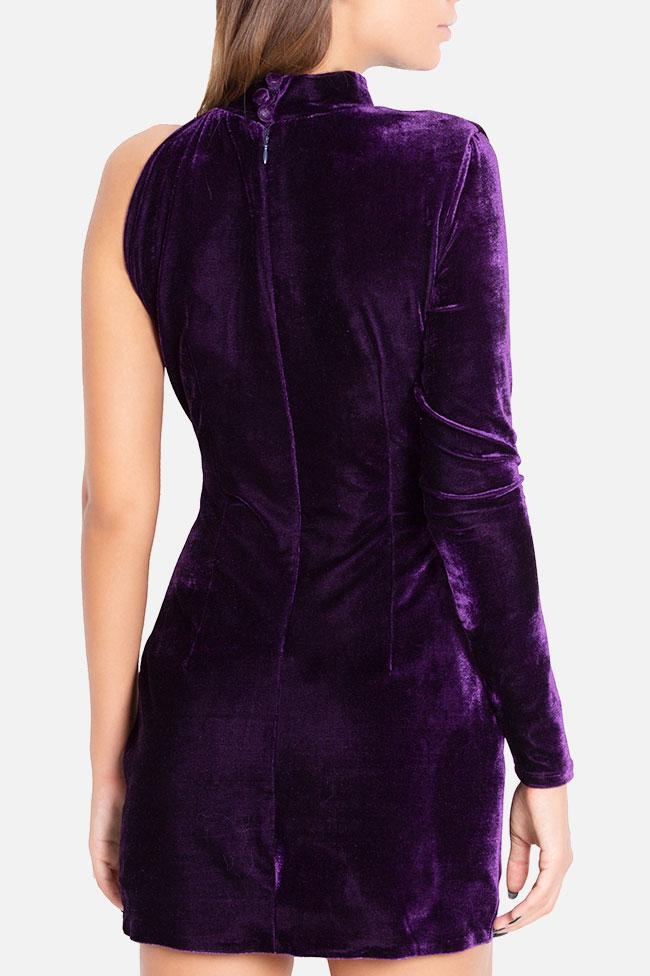 Robe asymétrique en velours Mirela Diaconu  image 2