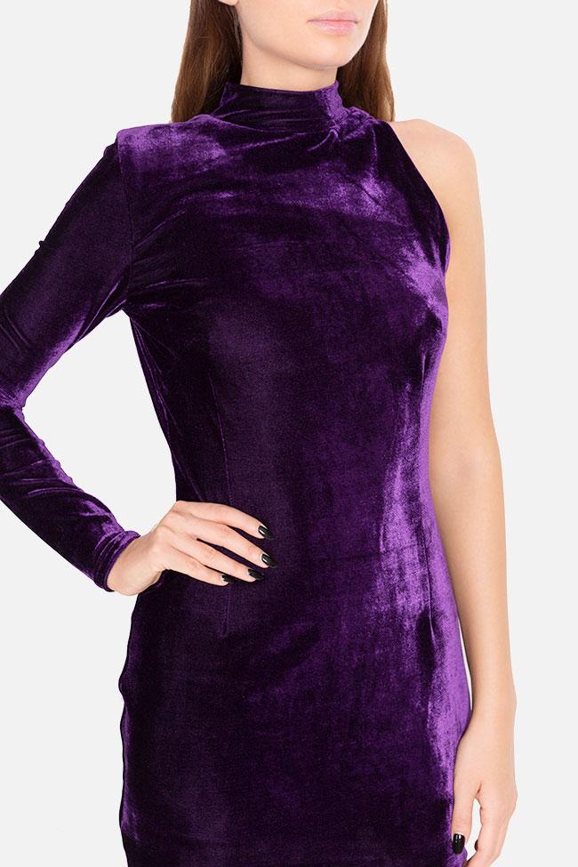 Robe asymétrique en velours Mirela Diaconu  image 3