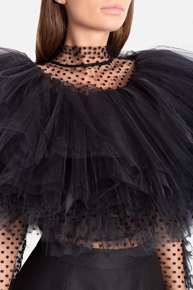 Body en tulle avec volants ornés de pois Mirela Diaconu  image 3