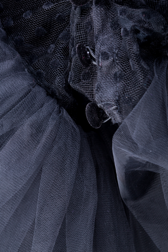 Body en tulle avec volants ornés de pois Mirela Diaconu  image 4