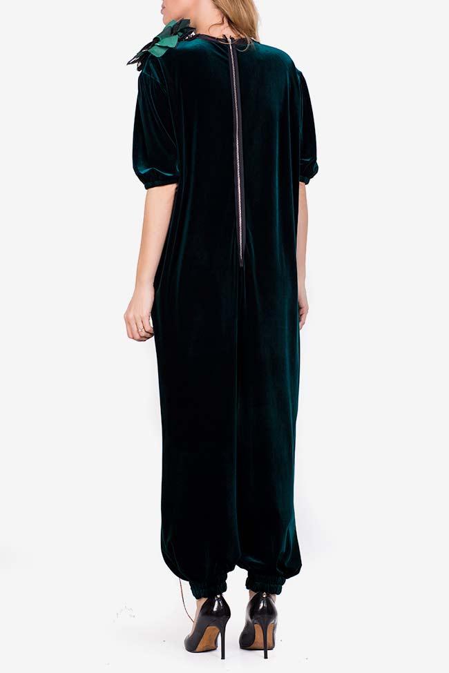 Embellished velvet tafftea jumpsuit Marius Musat image 2